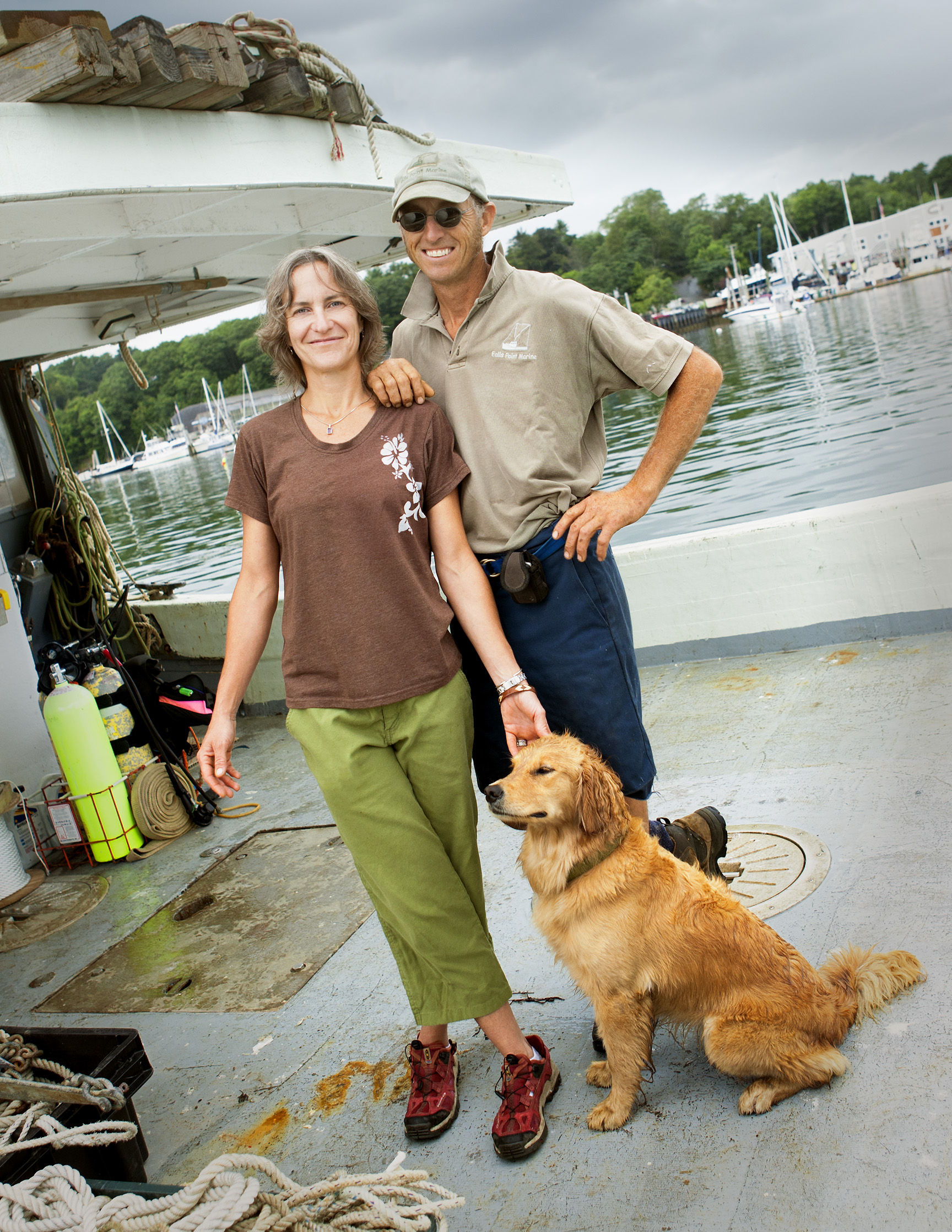 Carter & Cathy w/ Scout