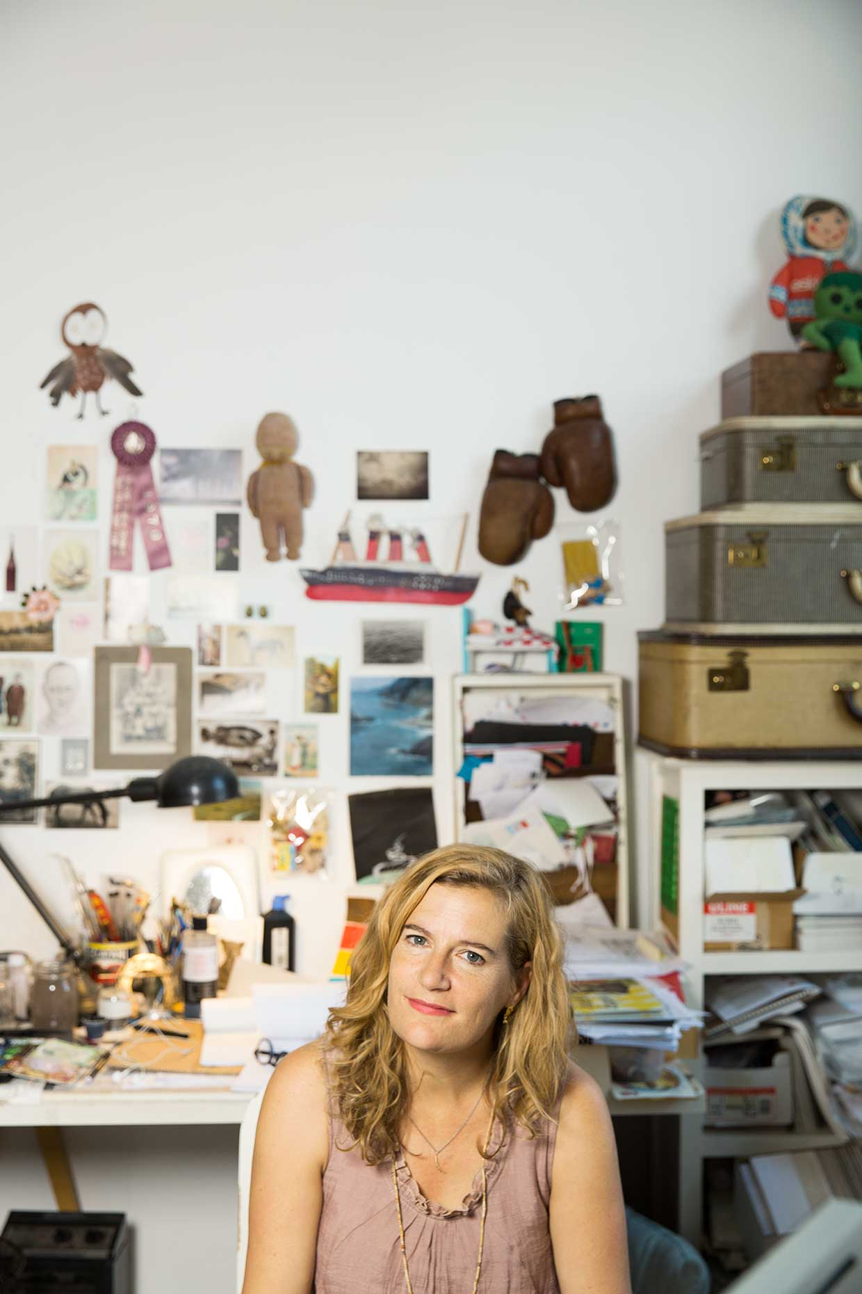 Sophie Blackall, Illustrator and Author, Brooklyn, NY, Editorial photography by Kevin Brusie.