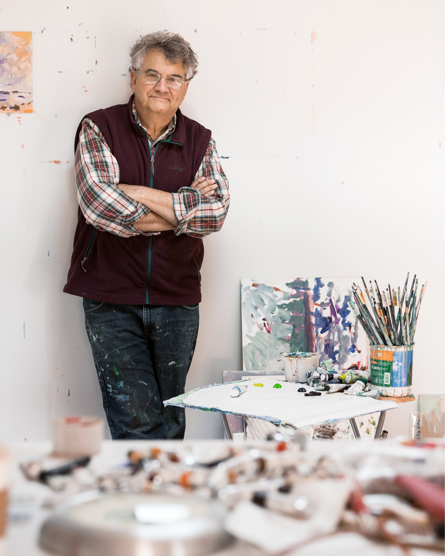 Portrait of artist Henry Isaacs, Portland Maine, for Audiofile Magazine