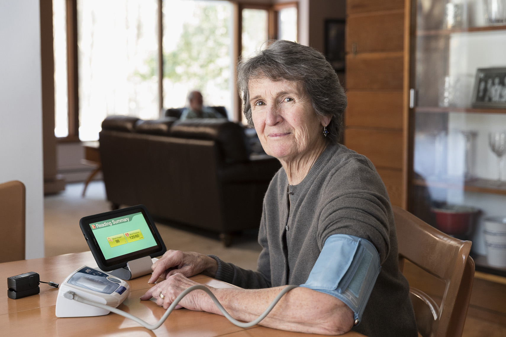 Home Health Care - remote monitoring device in use in Lewiston, Maine