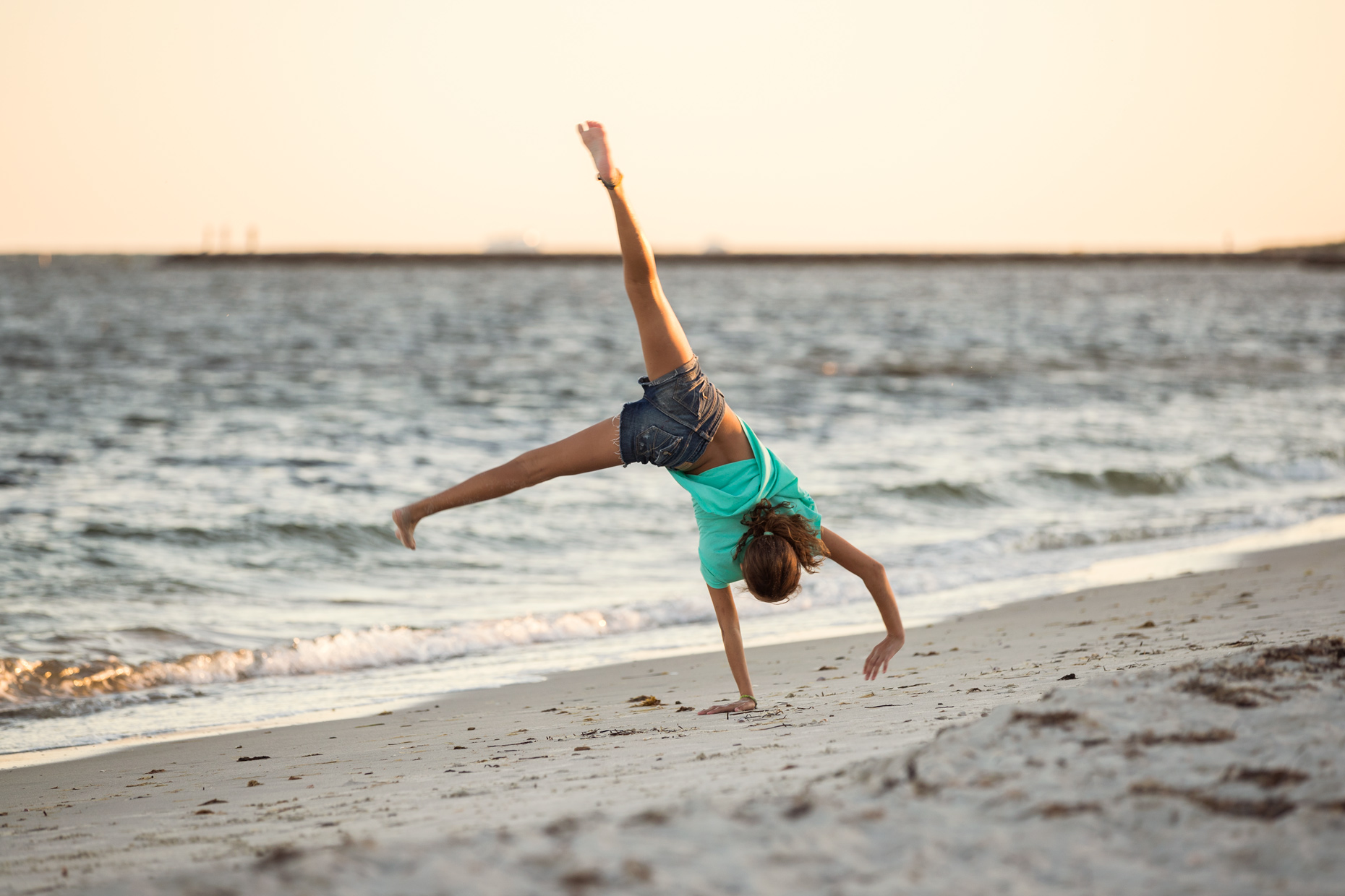 Somersaults on the beach  Cape Cod Seashore. Commercial photographer Kevin Brusie captured this for Cape Cod 5 Savings Bank