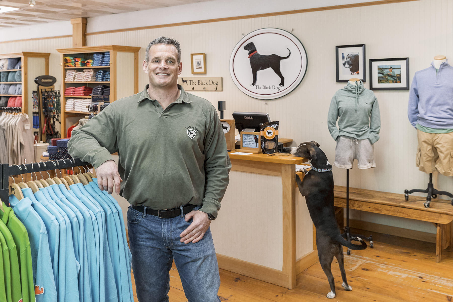 Environmental portrait of small business owner for Cape Cod 5 Bank Annual Report by corporate photographer Kevin Brusie